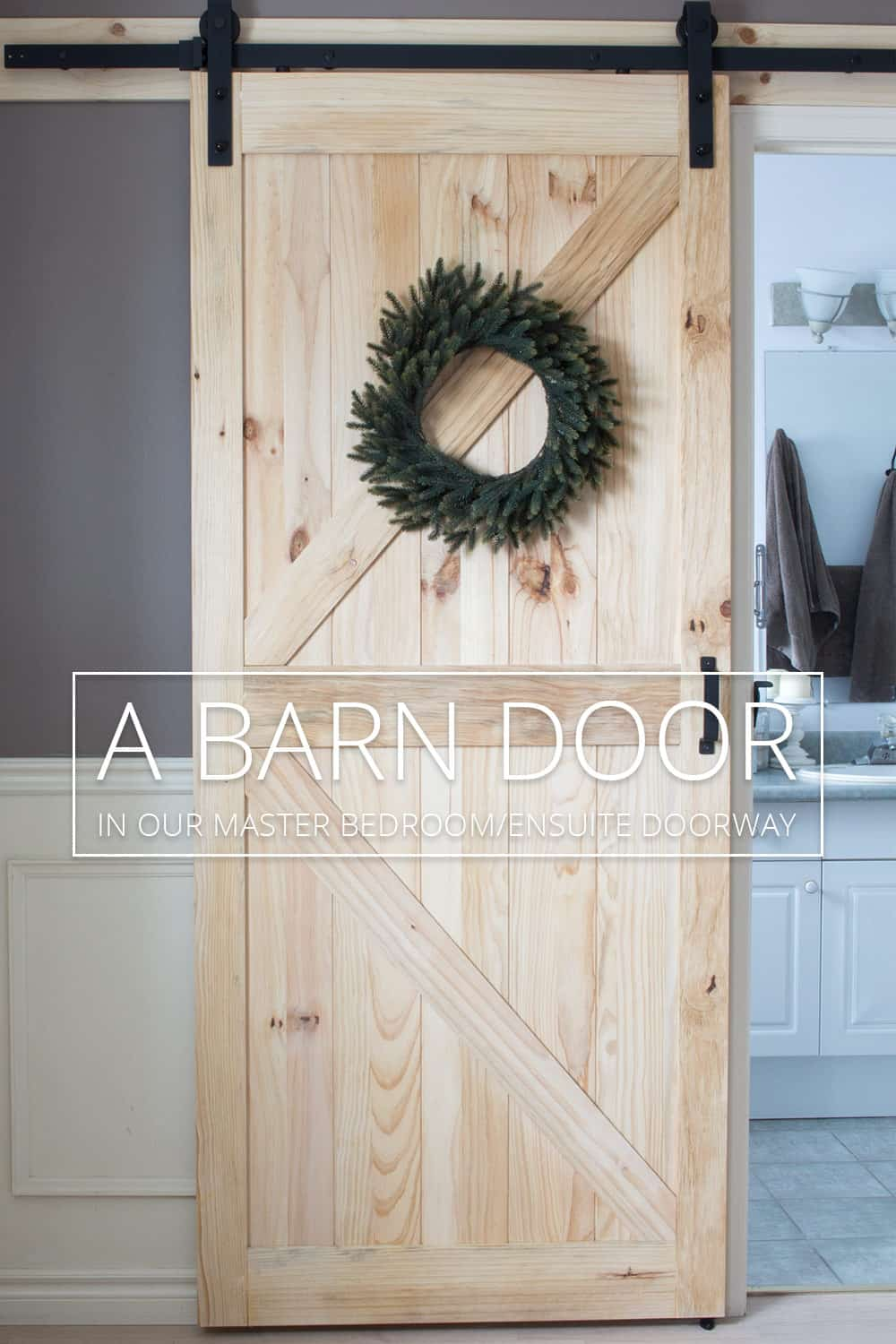 We Finally Have a Barn Door Again - In Our Master Bedroom!