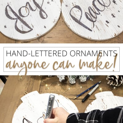 Hand-Lettered Ornaments ANYONE can make!