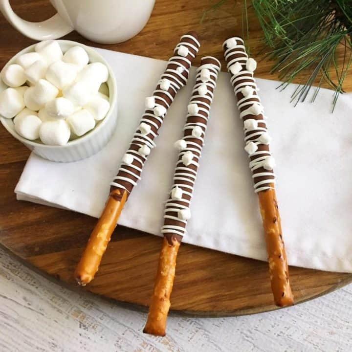Hot Chocolate Pretzel Sticks