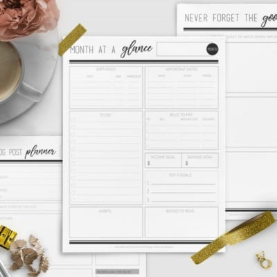 Introducing the NEW 2018 Abundant Life Printable Planner!
