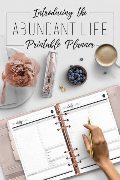 Introducing the Abundant Life Printable Planner