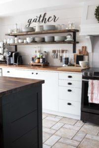white-wood-and-black-kitchen-open-shelves