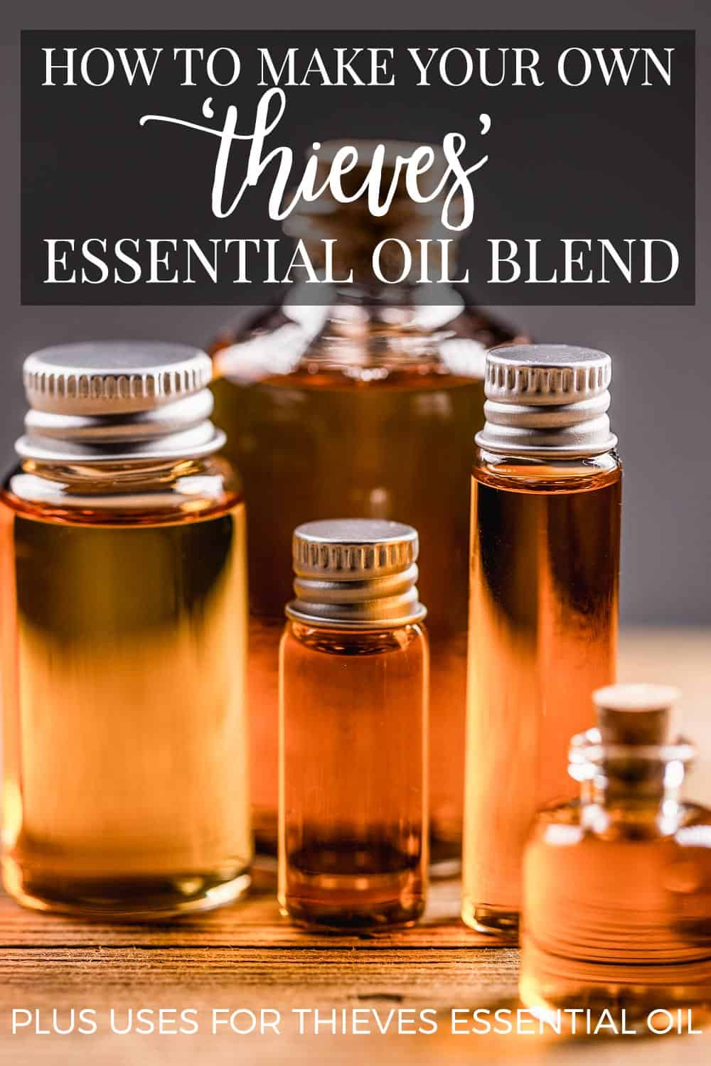 how to make your own thieves essential oil plus uses for thieves essential oil. Black Bedroom Furniture Sets. Home Design Ideas