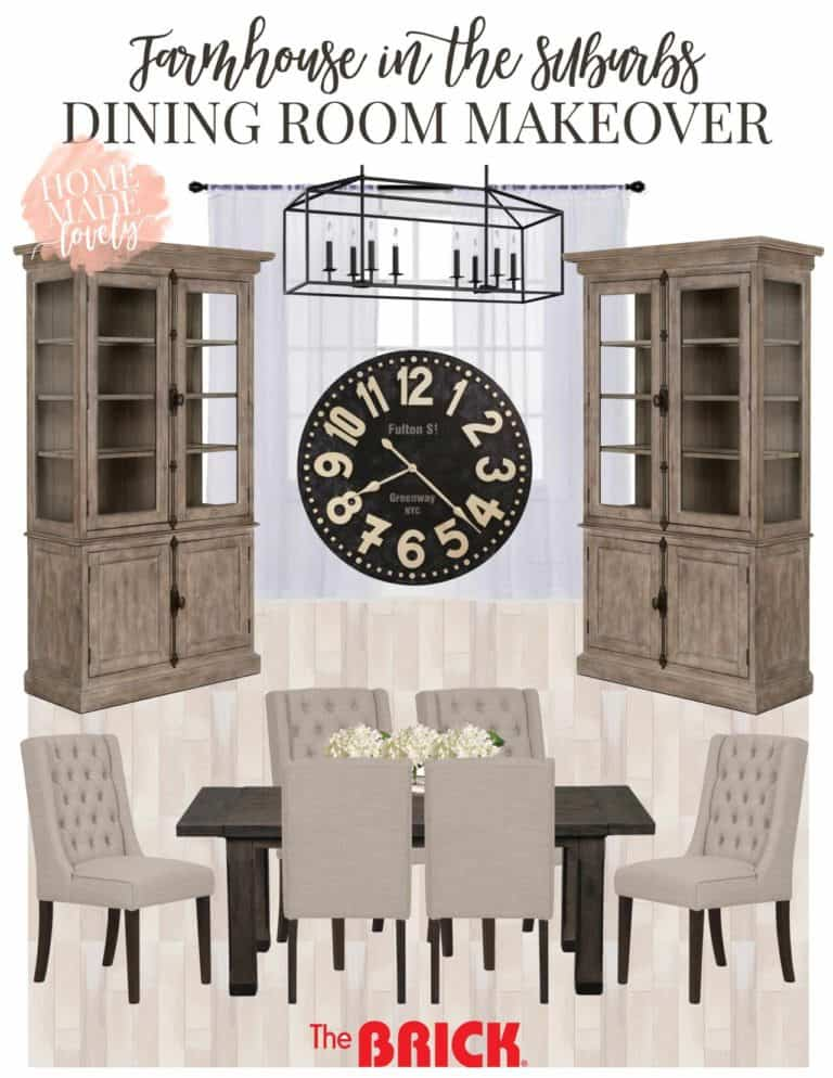 Dining Room Makeover Plans – Farmhouse in the Suburbs