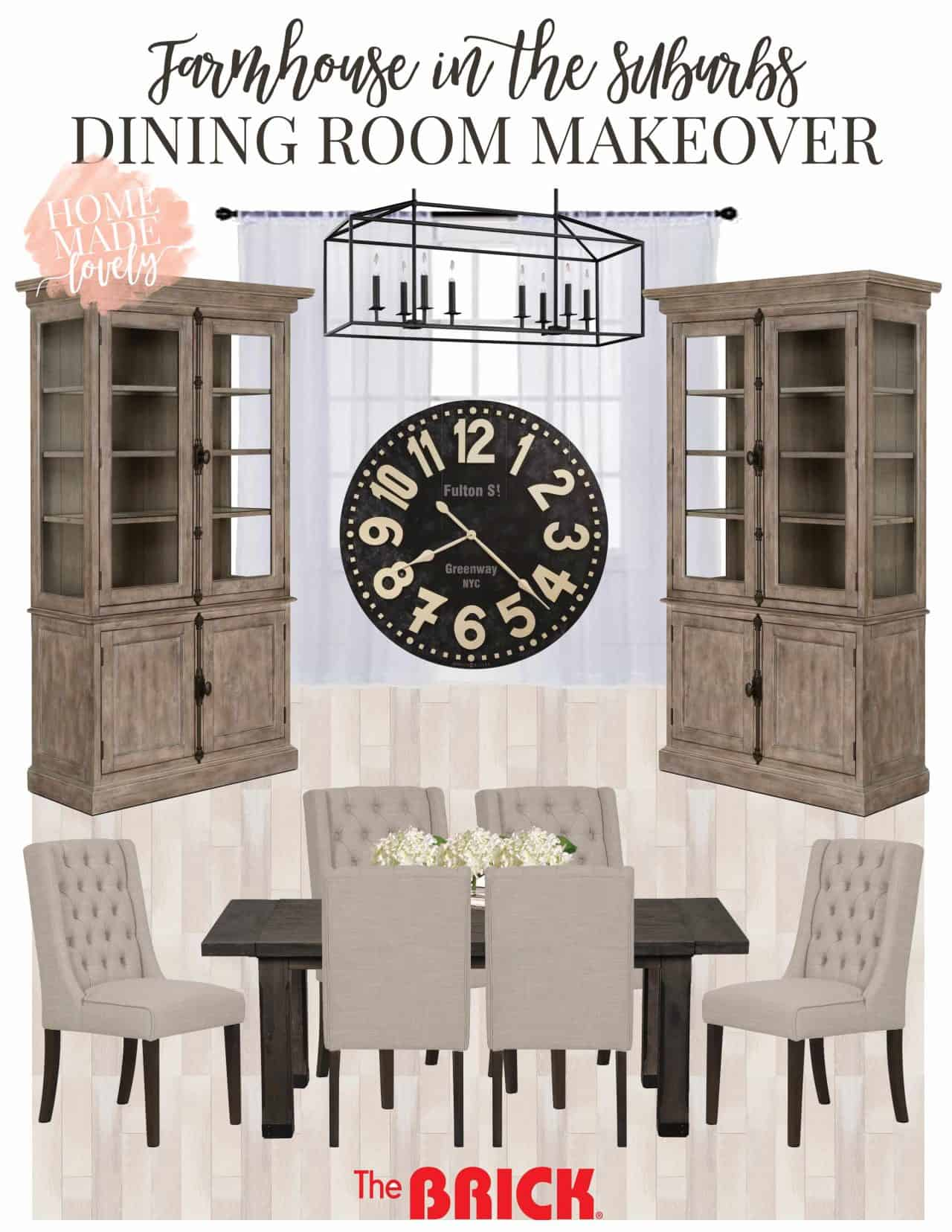 Farmhouse In The Suburbs Dining Room Makeover Plans Mood Board