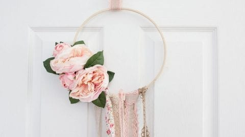 Floral Boho Spring Hoop Wreath