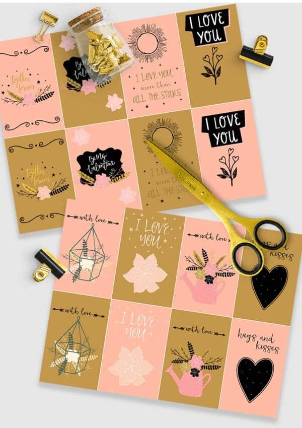 Free Printable Farmhouse Style Valentine's Day Cards