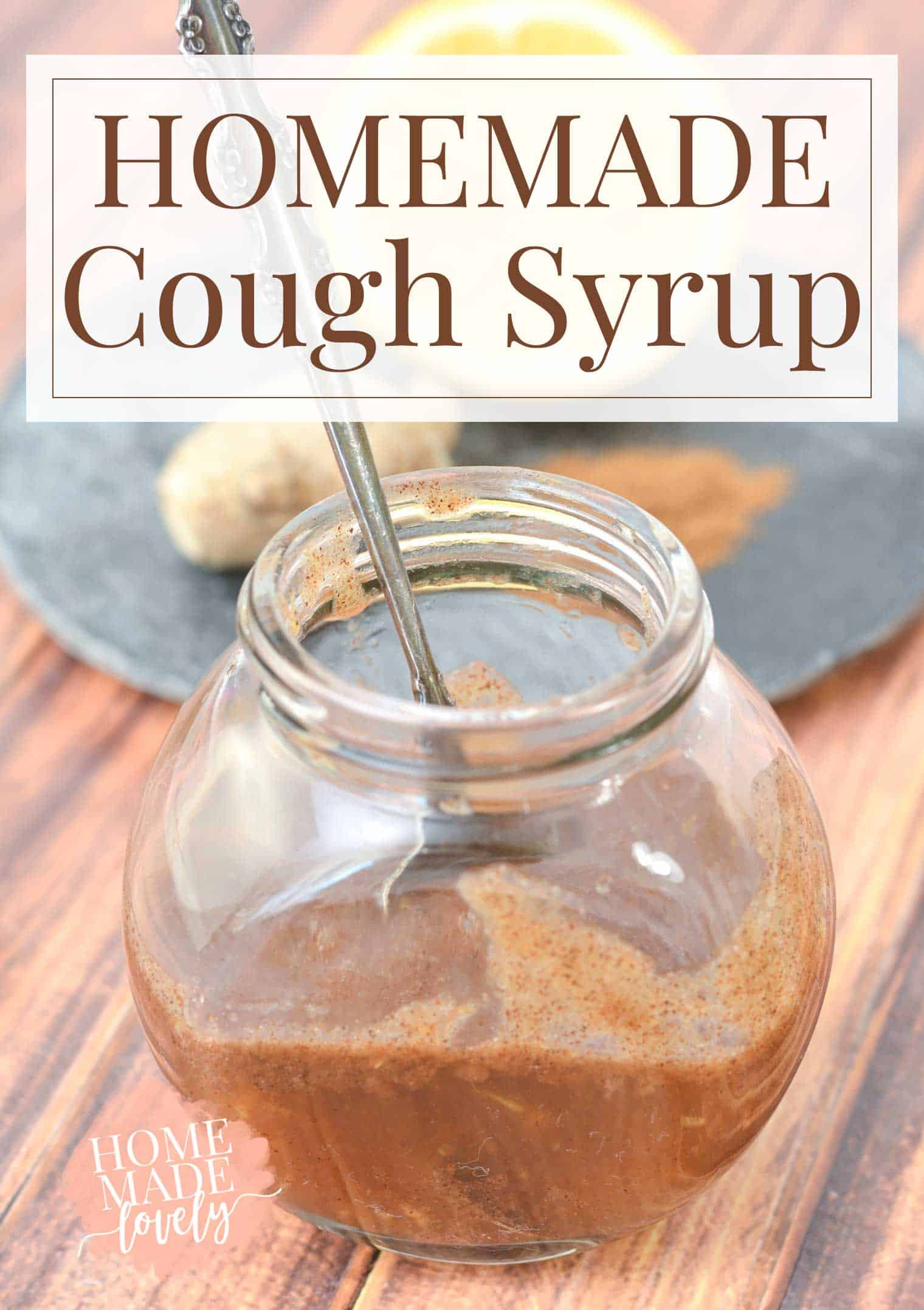 Homemade cough syrup tastes great made from common kitchen foods homemade cough syrup in a jar some on spoon forumfinder Images