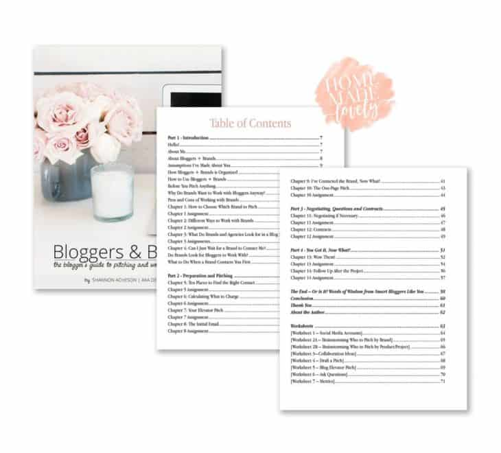 Bloggers and Brands. The blogger's guide to pitching and working with brands. Table of Contents.