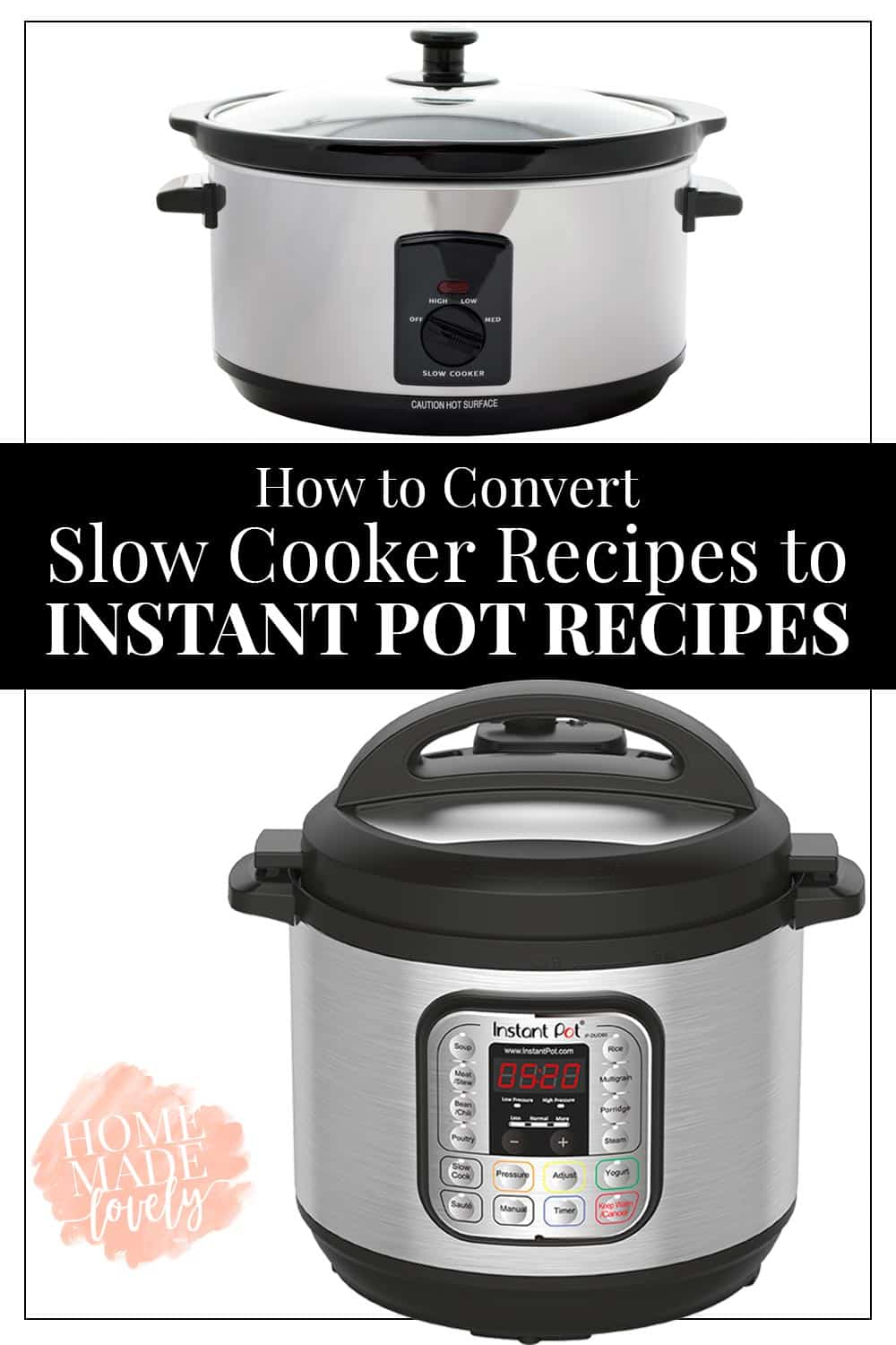 slow cooker and an instant pot