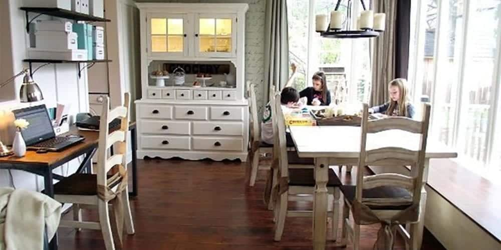 old dining room homeschool
