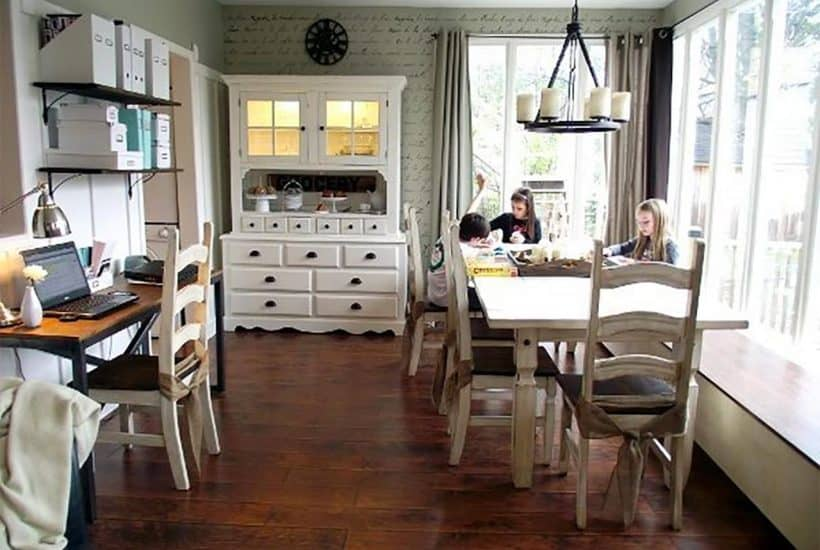 old dining room homeschool