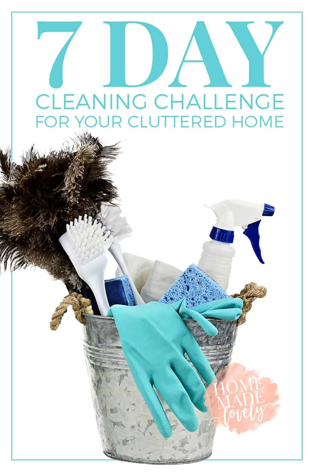 7 Day Cleaning Challenge for your Cluttered Home