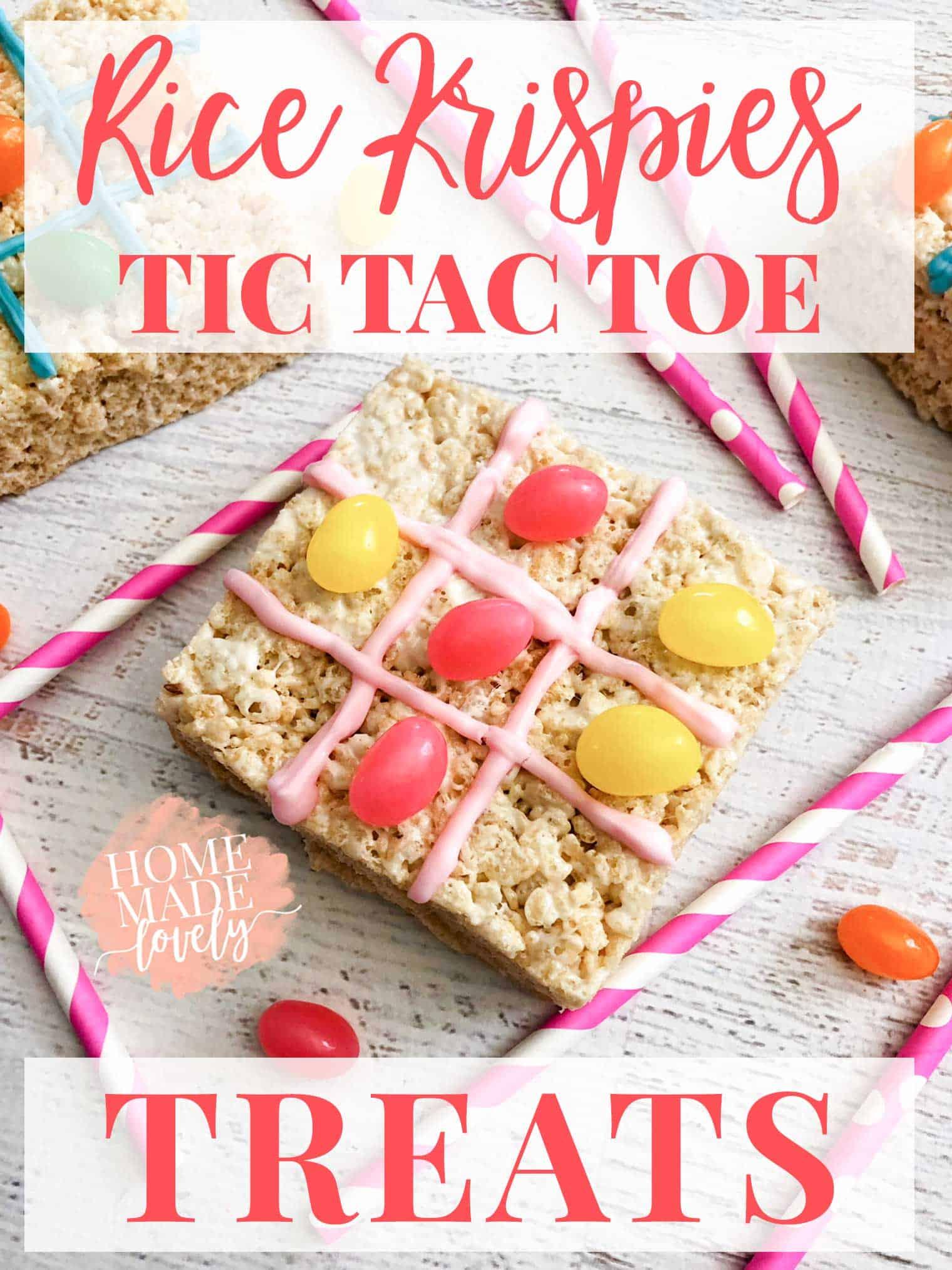 Rice Krispies Tic Tac Toe treats