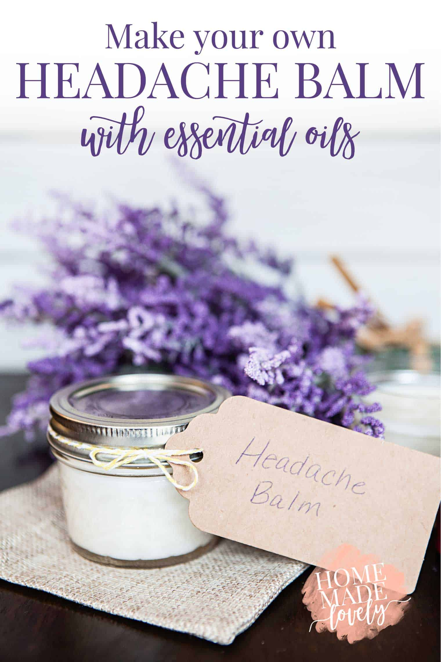 make your own headache balm with essential oils. Black Bedroom Furniture Sets. Home Design Ideas