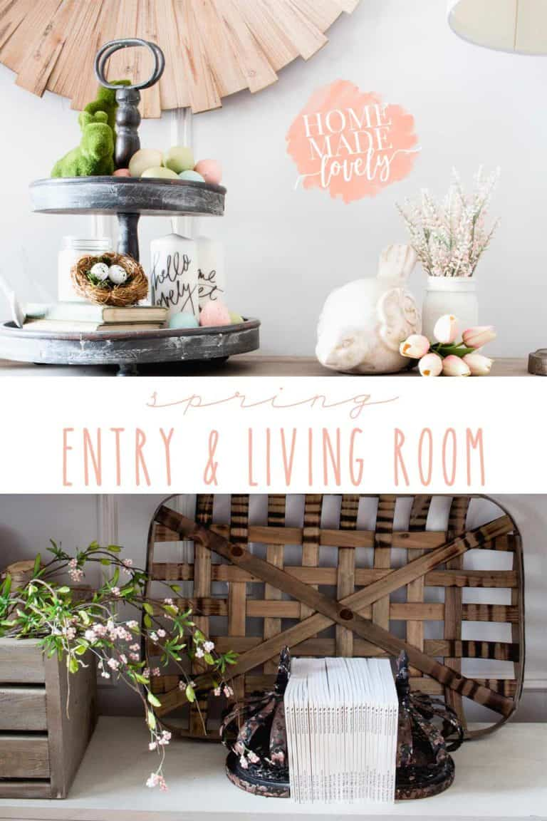 Our Spring Entry and Living Room – Canadian Bloggers Home Tour