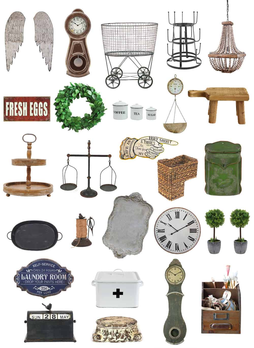 Do you love the farmhouse look as much as we do? Want to get yourself some great finds at a fab price? Without leaving your house? Then you're going to love these 26 Farmhouse Finds from Amazon!