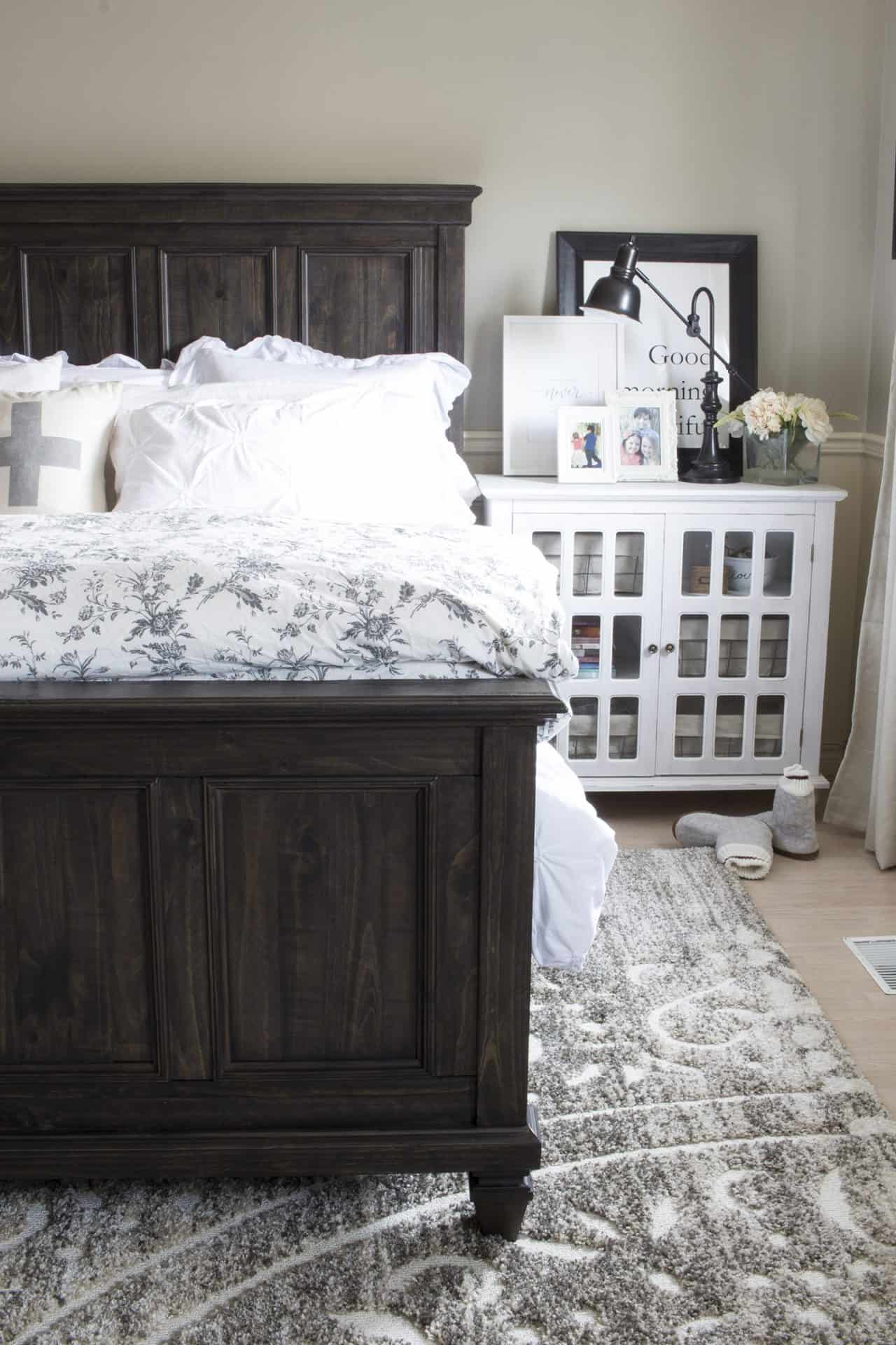 Bray Accent Cabinet as nightstands in Dean and Shannon's bedroom