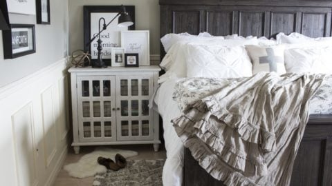 Calistoga bed in a farmhouse style bedroom