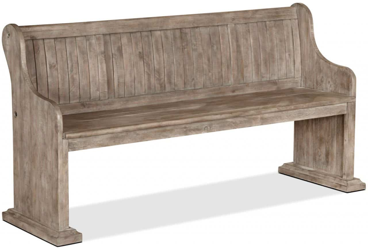 Keswick Dining Bench in Dovetail Grey from The Brick