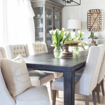 Suburban Farmhouse Dining Room Reveal!