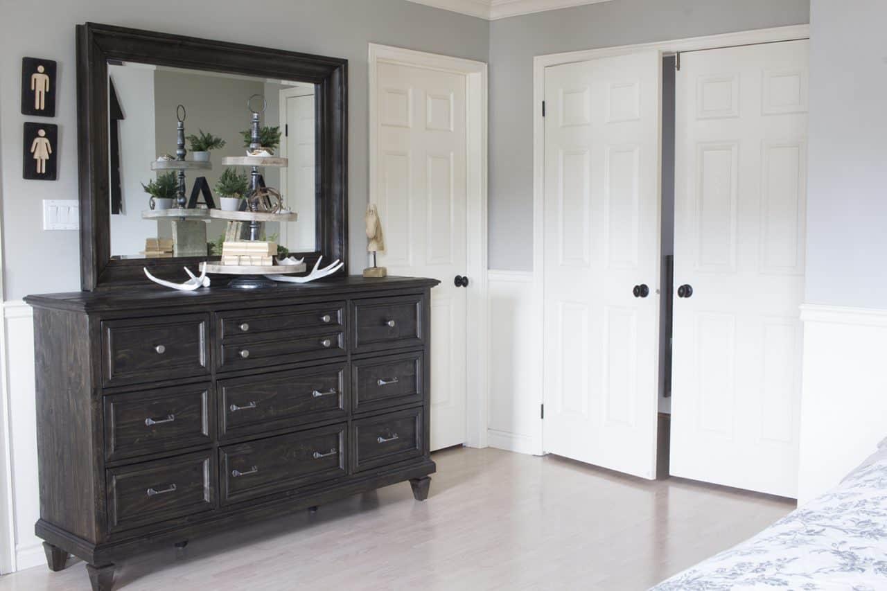 The Brick Calistoga dresser and mirror