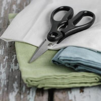 cut up fabric scraps
