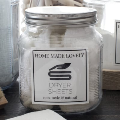 These Homemade Reusable Dryer Sheets are amazing! Choose Lavender, or any scent that suits you and save money with these DIY Dryer Sheets.