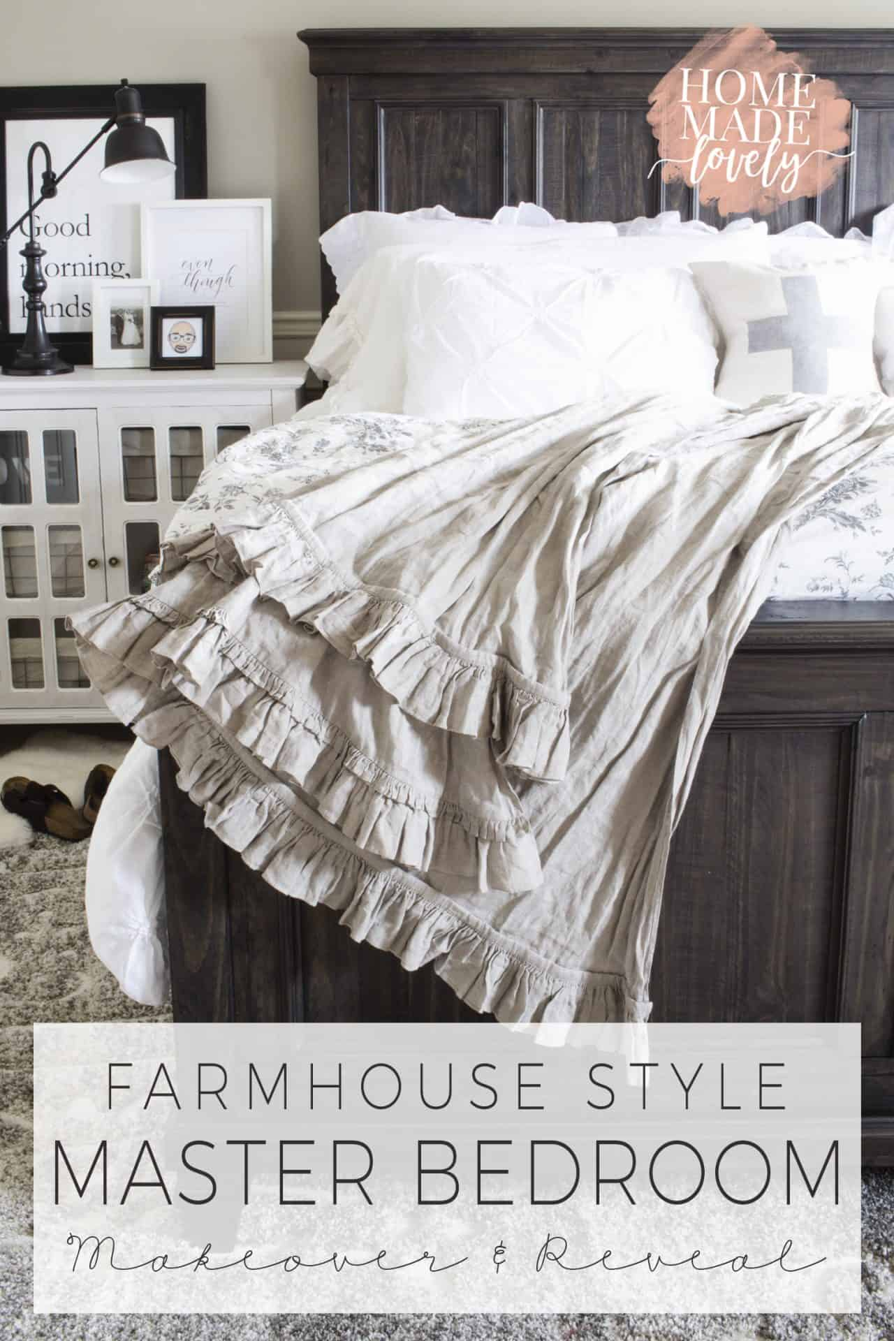 Farmhouse Style Master Bedroom Makeover Reveal