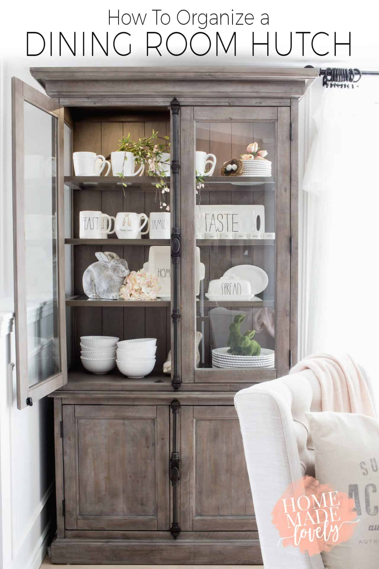 How to Organize a Dining Room Hutch + More of Our Keswick ...