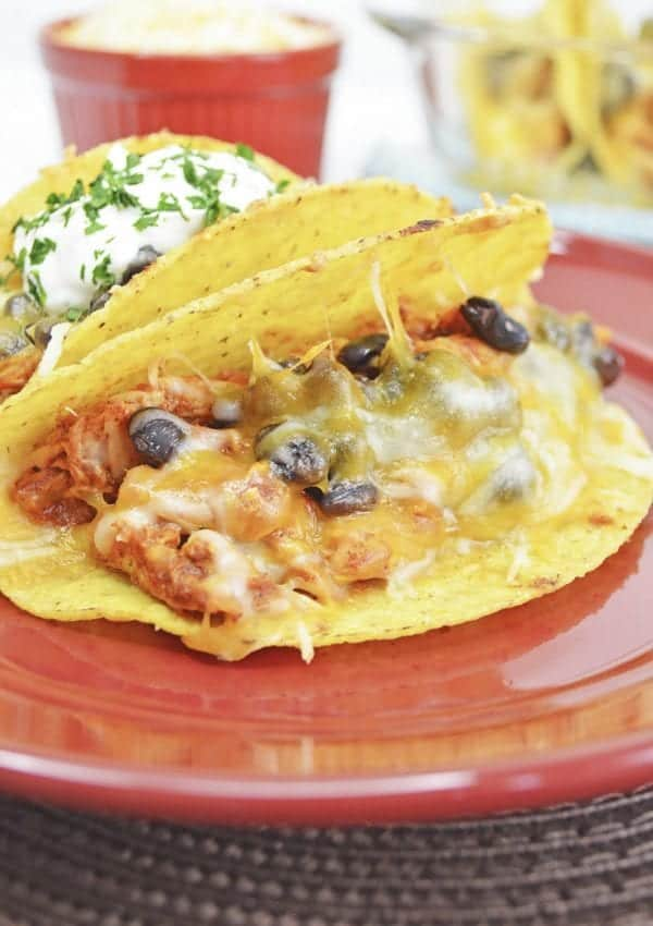 Chicken and Black Bean Tacos – Uses Rotisserie or Leftover Shredded Chicken!