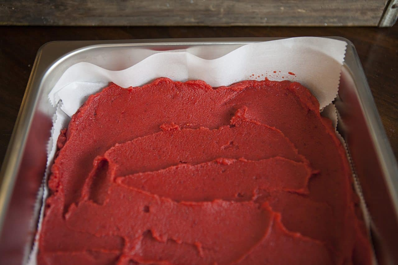 sorbet spread in pan