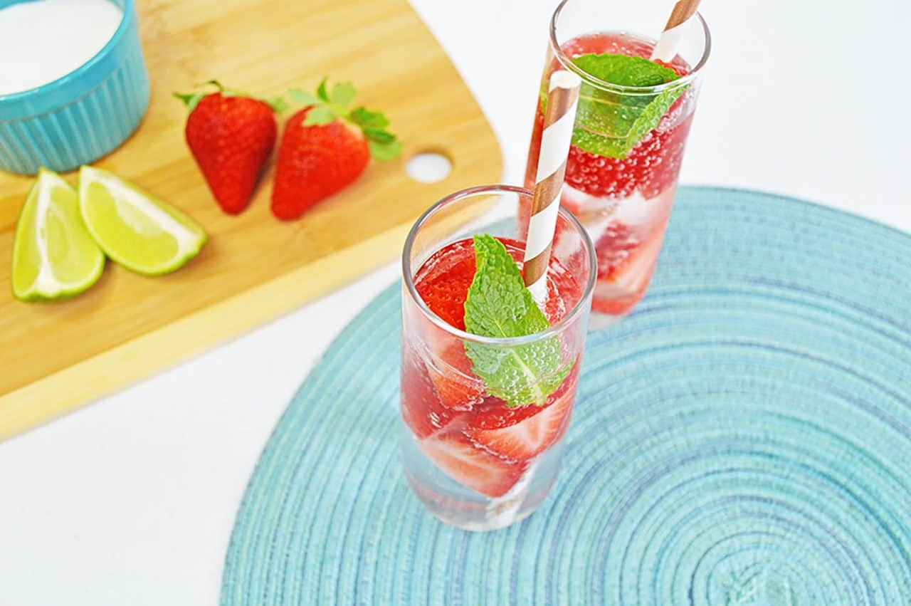 strawberry smash cocktail above