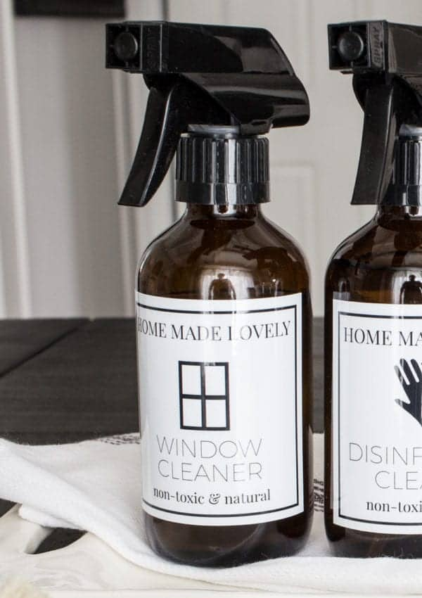 Streak Free Glass Cleaner Recipe with Essential Oils