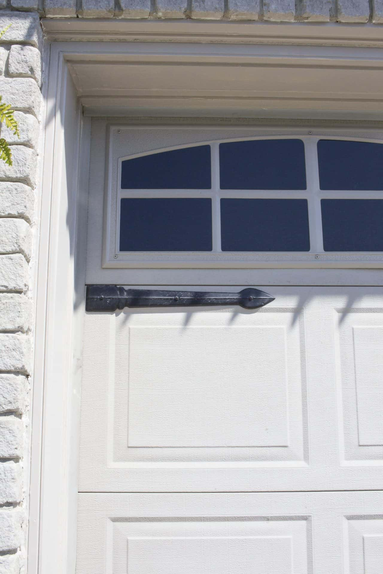 garage door trim after