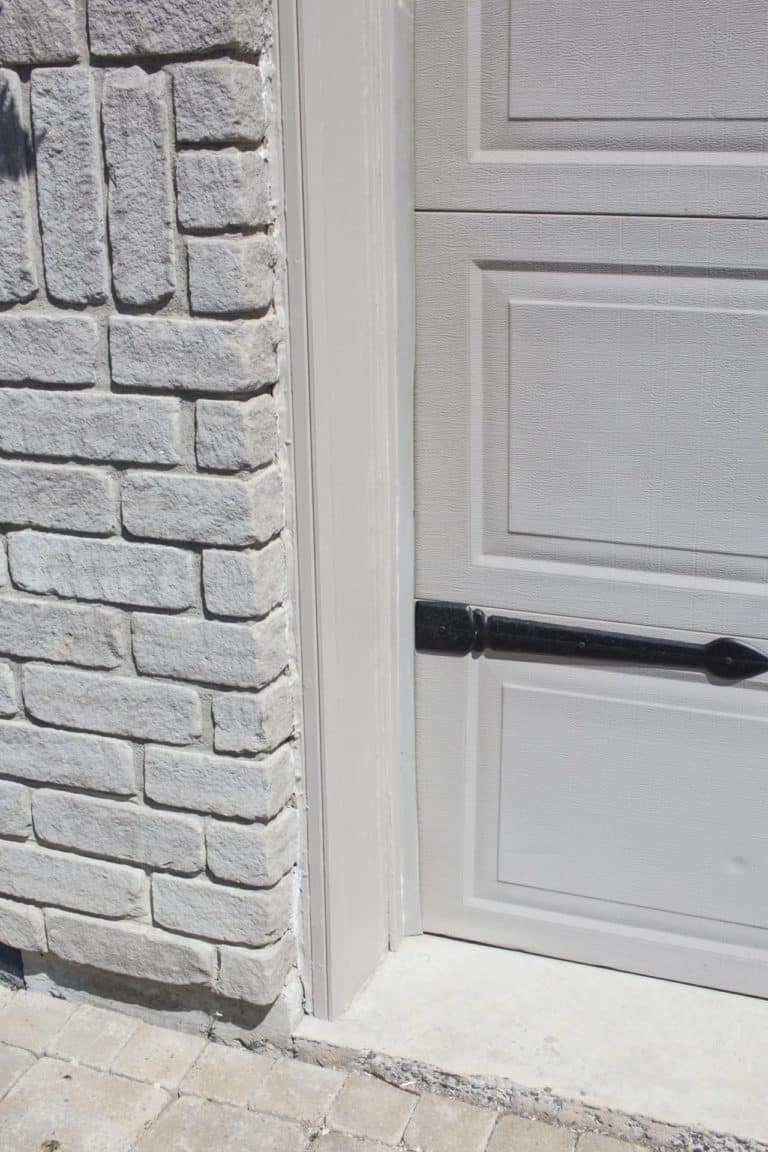 garage door trim after