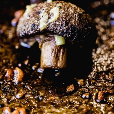 garlic roasted mushroom