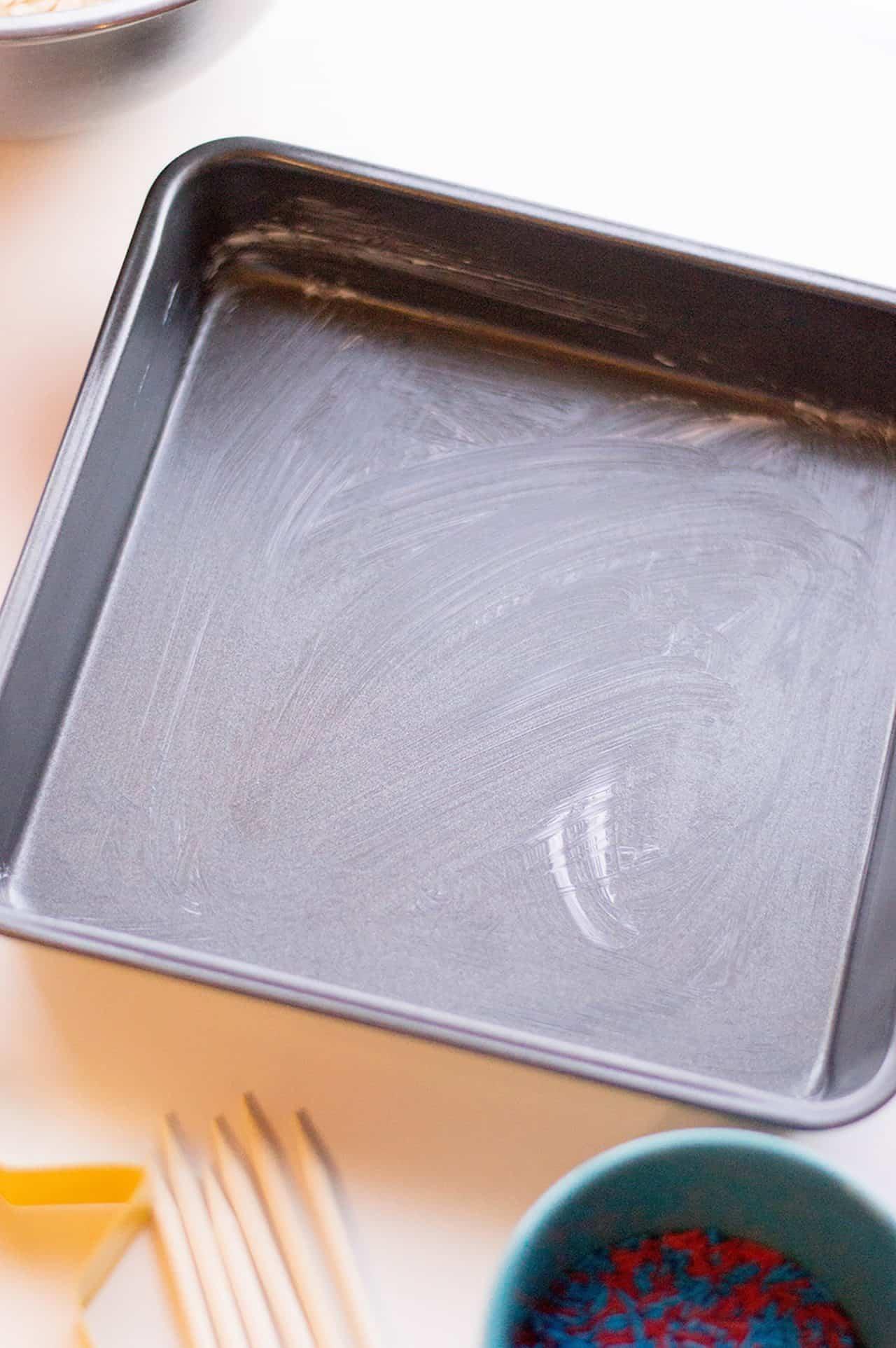 grease the pan