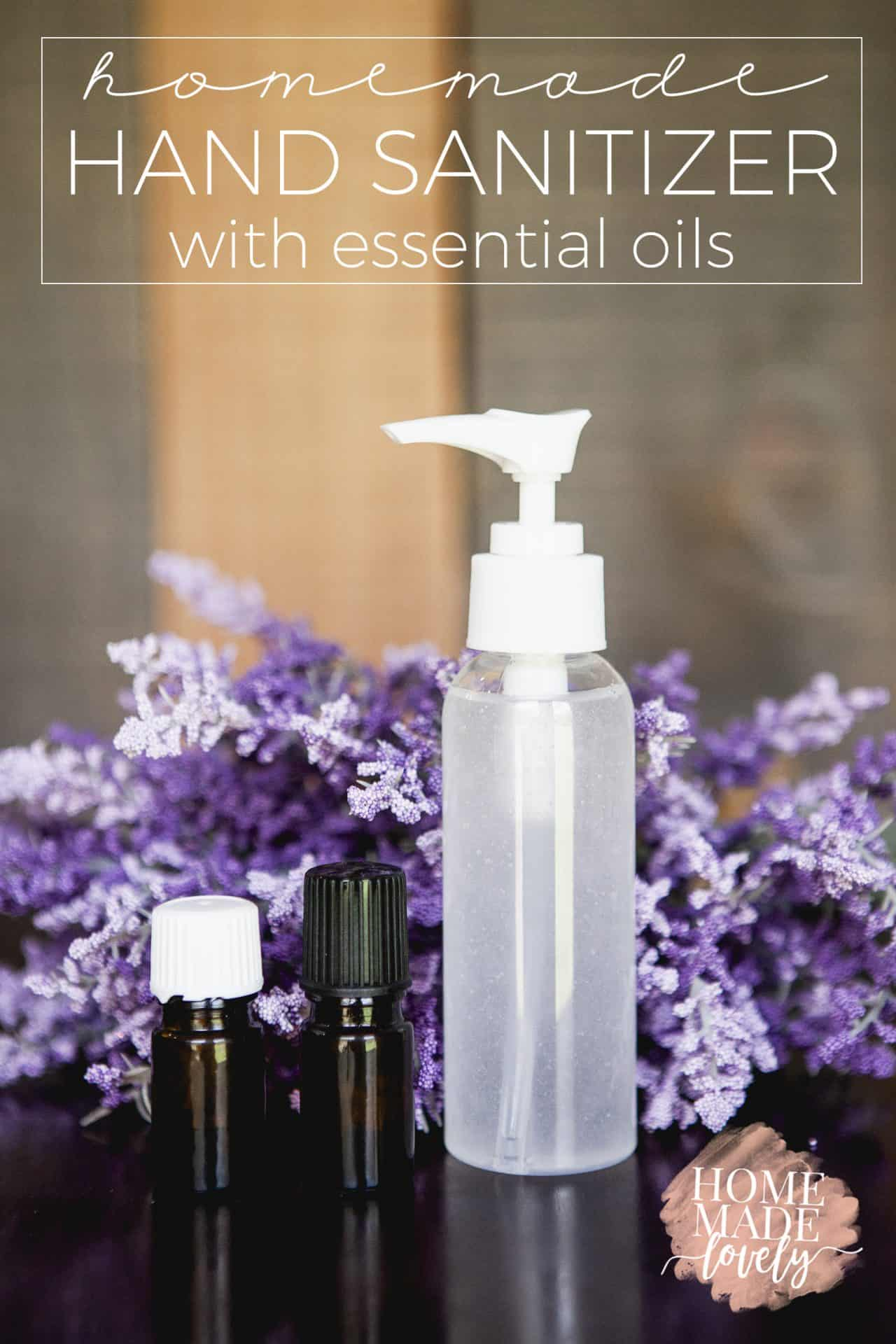 Homemade Hand Sanitizer with Alcohol and Essential Oils