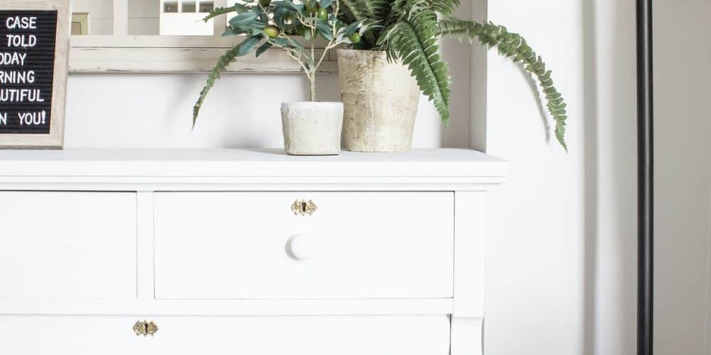 how to give a vintage dresser a makeover