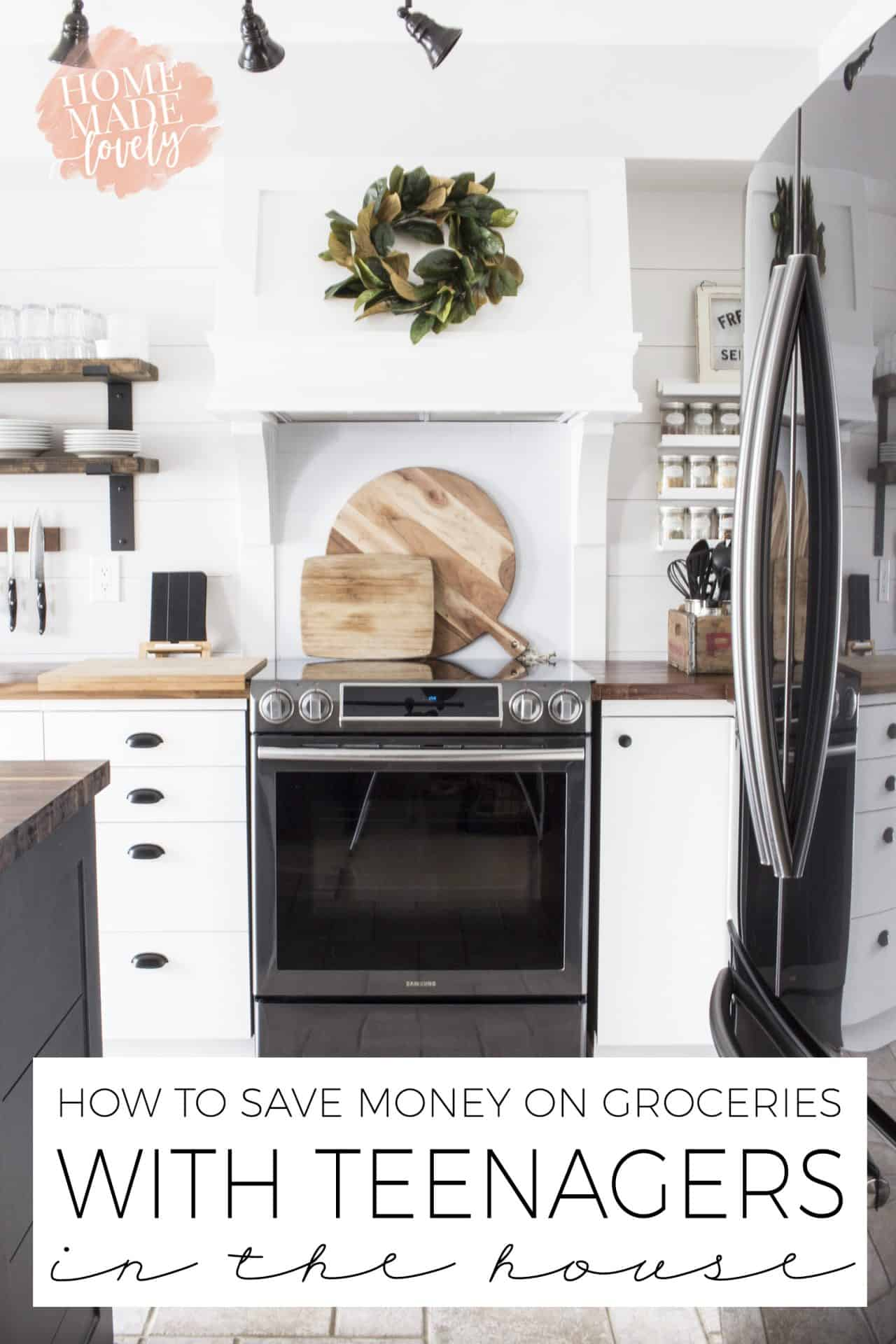 If you have teenagers like we do, you KNOW they eat a lot! Here's how to save money on groceries with teenagers in the house.