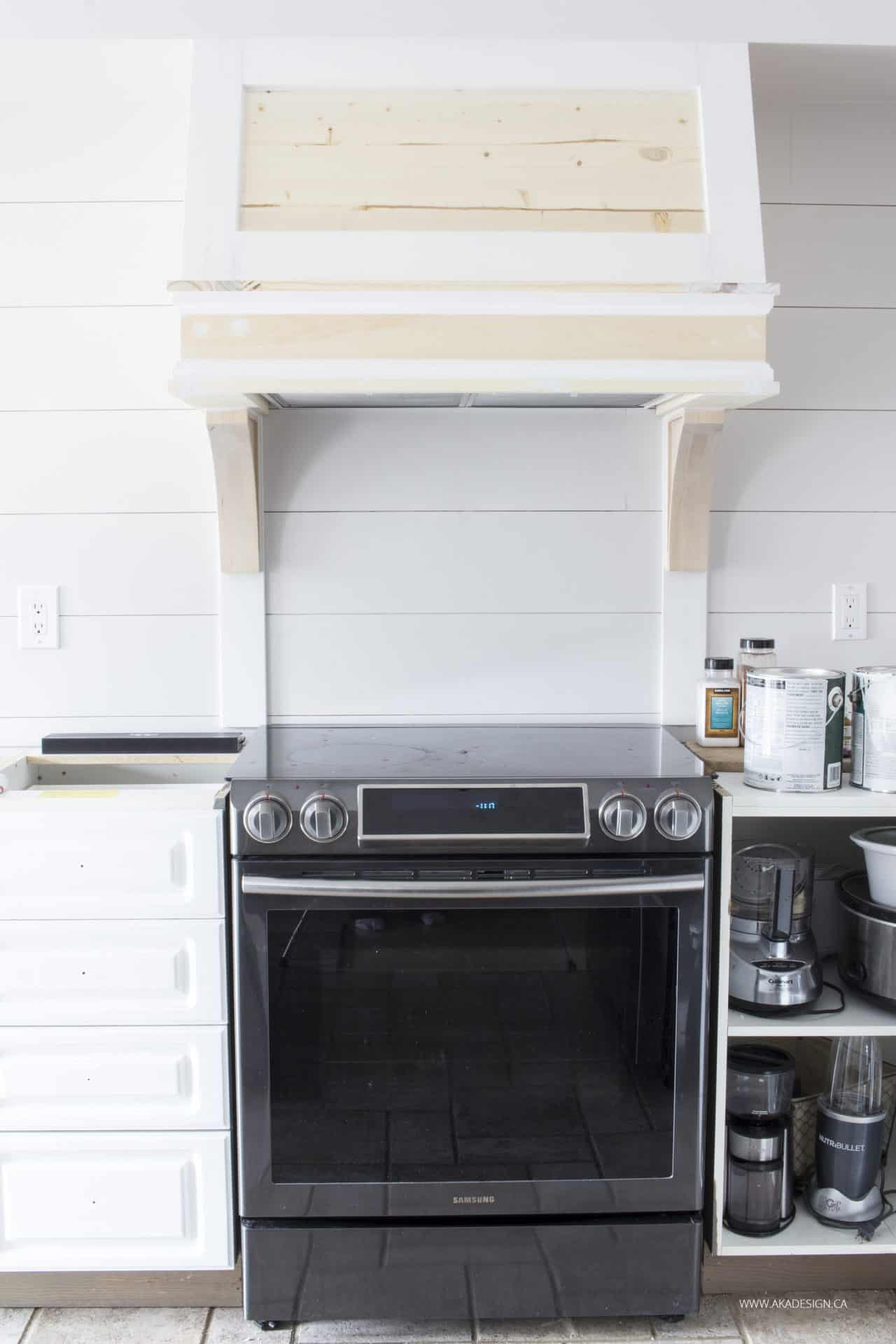 DIY Custom Range Hood Cover