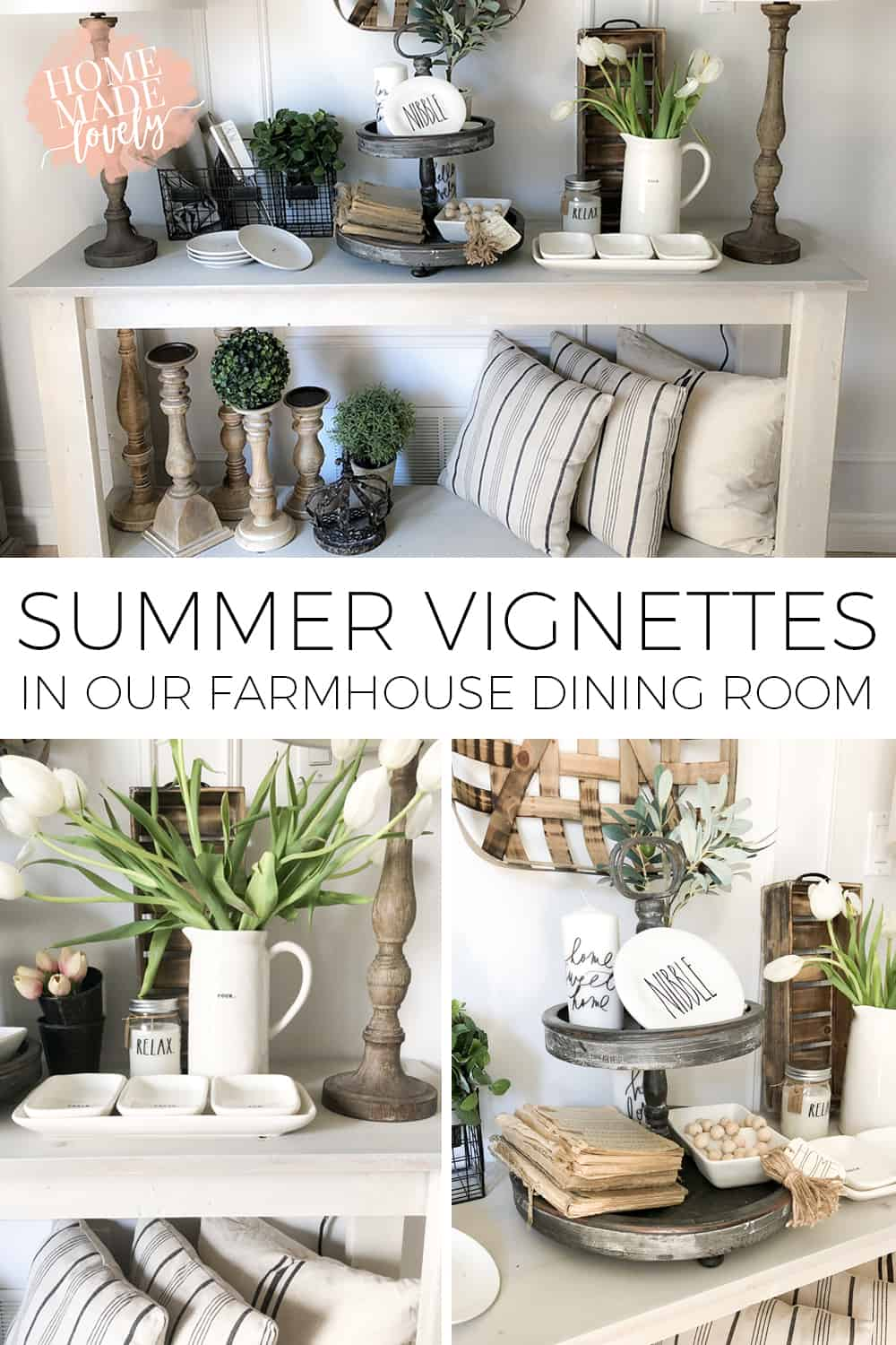 Summer Vignettes in Our Farmhouse Dining Room