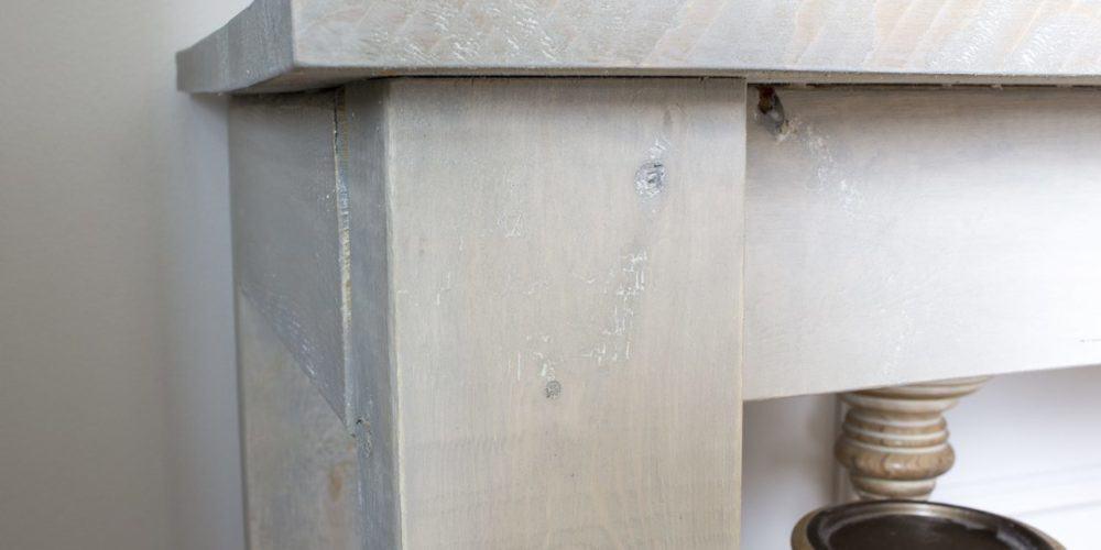 white wood grain detail