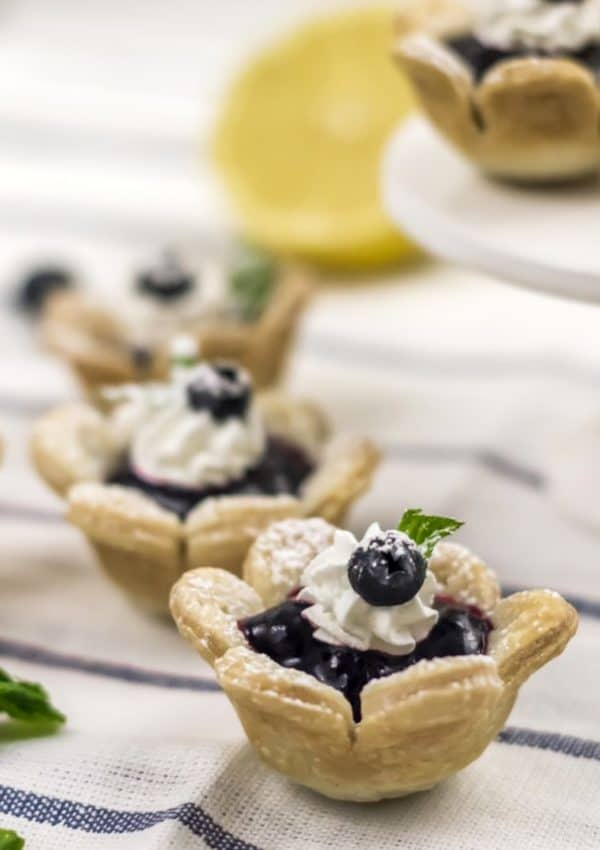Blueberry Flower Tarts – The Cutest Little Treat!
