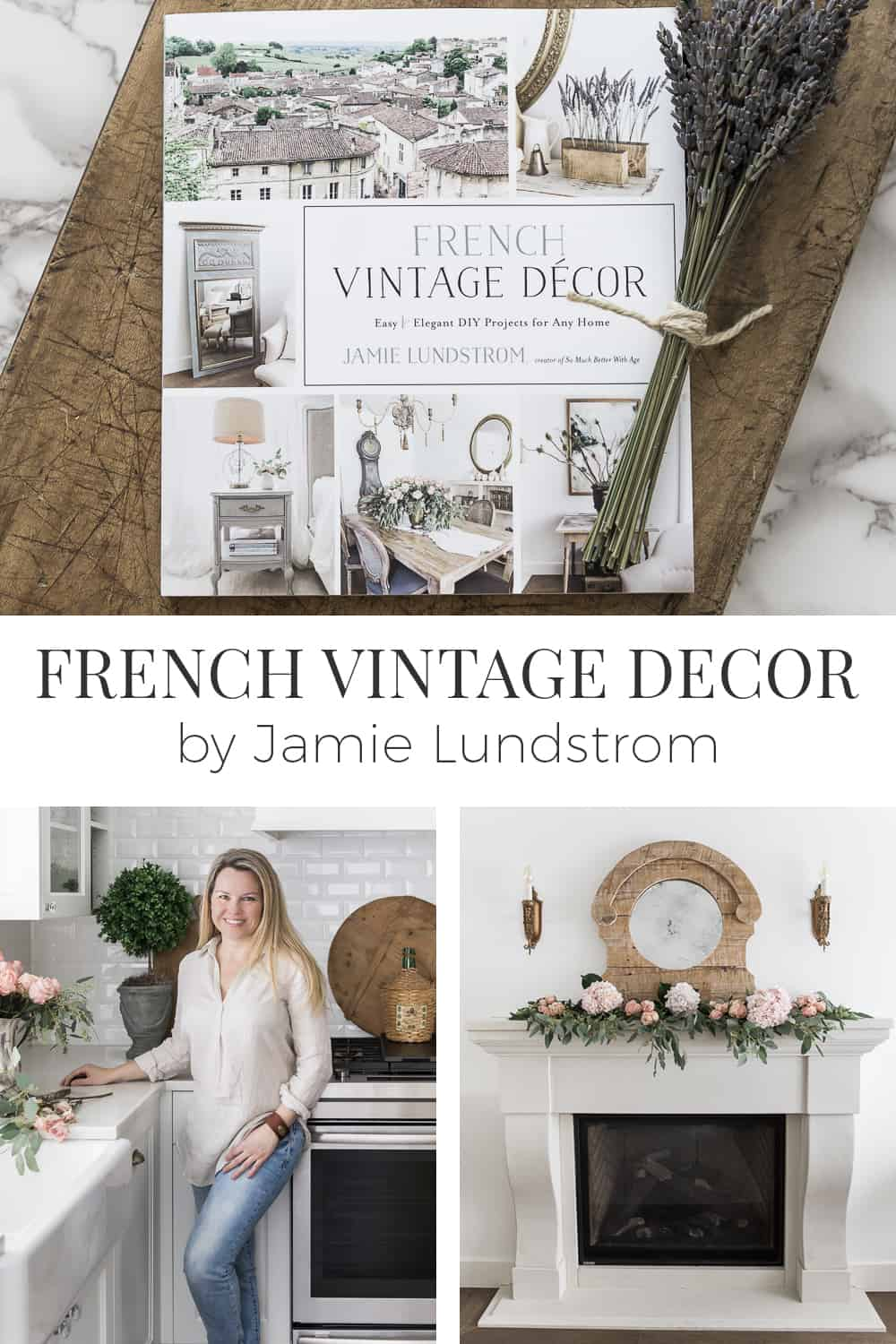 If you love French vintage decor, or even mixing French vintage style into your farmhouse style, you're going to love my friend, Jamie's new book!