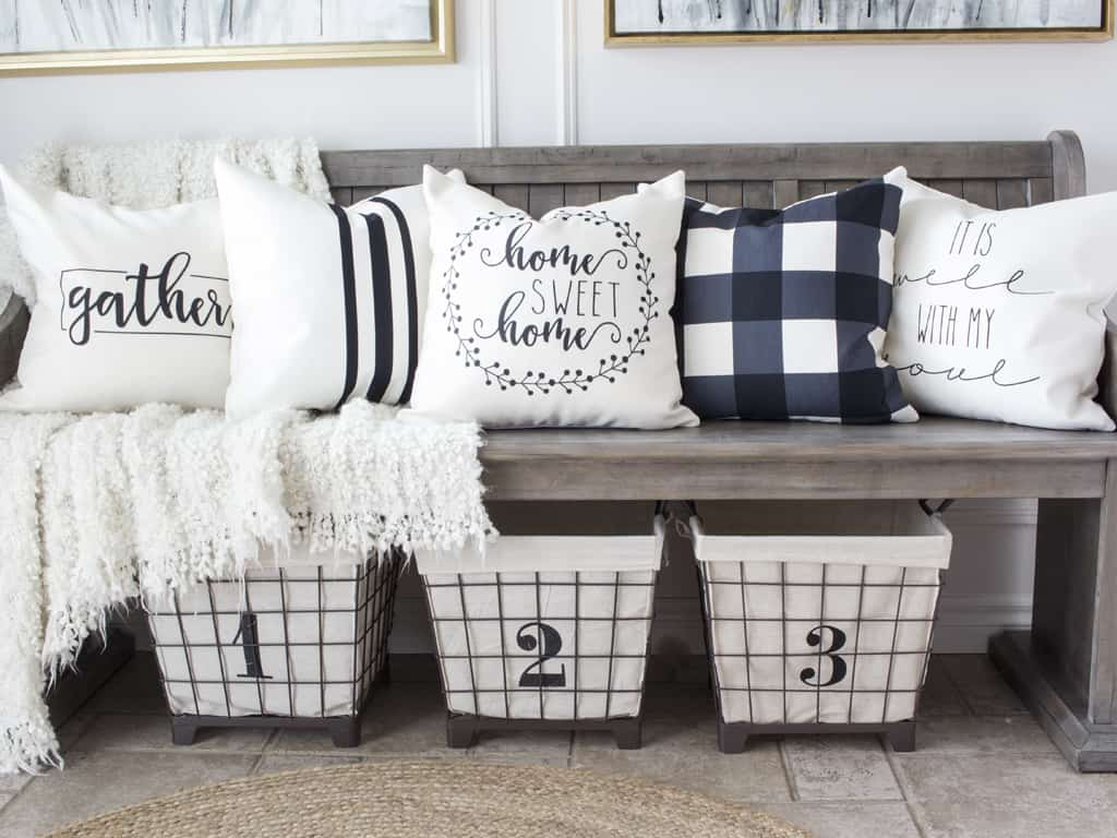 farmhouse style throw pillow covers