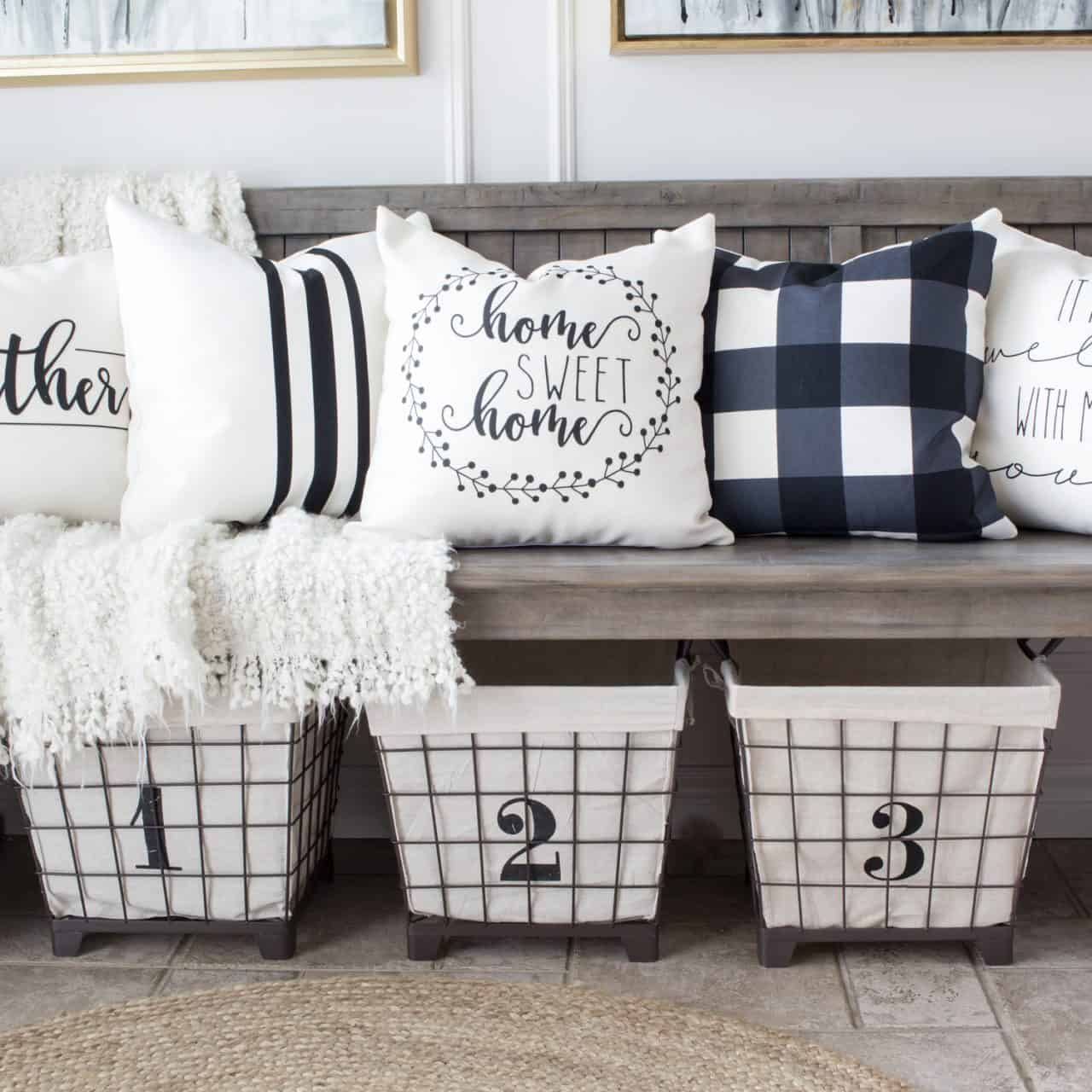 HML Collection pillows farmhouse style pillow covers