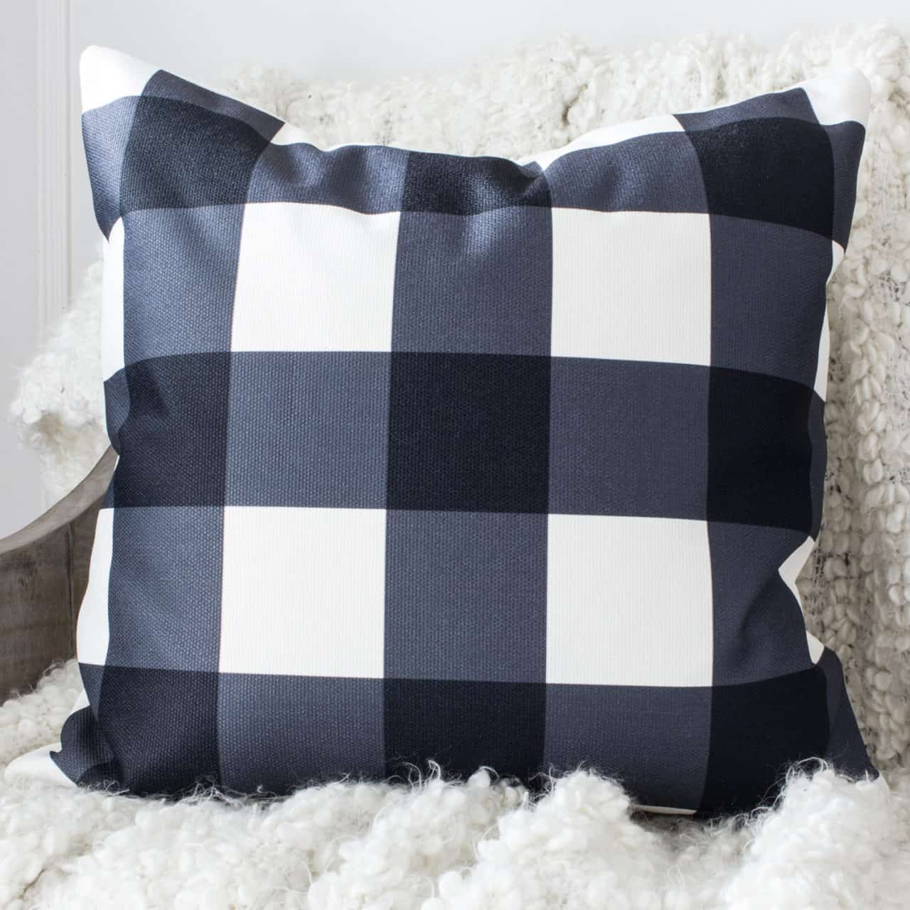 buffalo check throw pillow cover