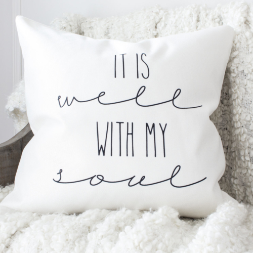 HML Collection pillows  it is well